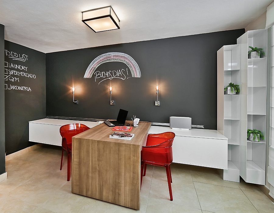 32 Smart Chalkboard Home Office Décor Ideas | DigsDigs