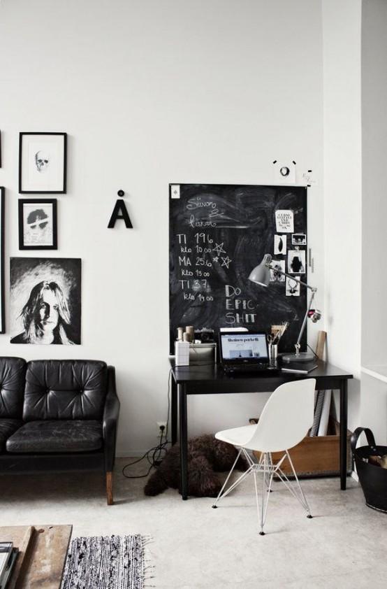 32 smart chalkboard home office d 233 cor ideas digsdigs smart home design from modern homes design
