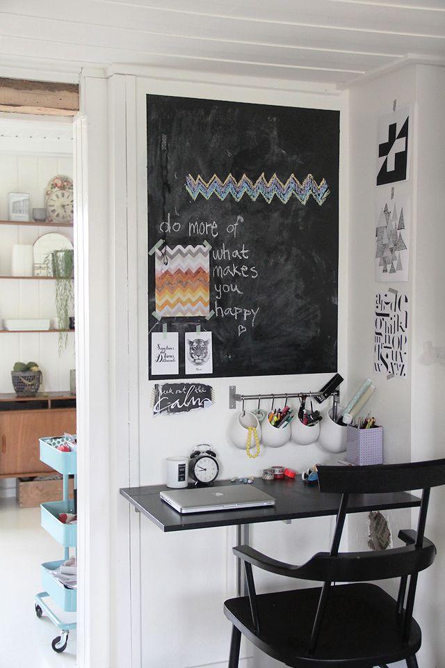 32 smart chalkboard home office décor ideas  digsdigs
