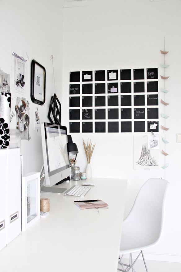 32 Smart Chalkboard Home Office Décor Ideas