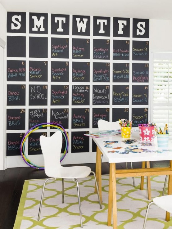 32 smart chalkboard home office d cor ideas digsdigs for Home office decor pictures