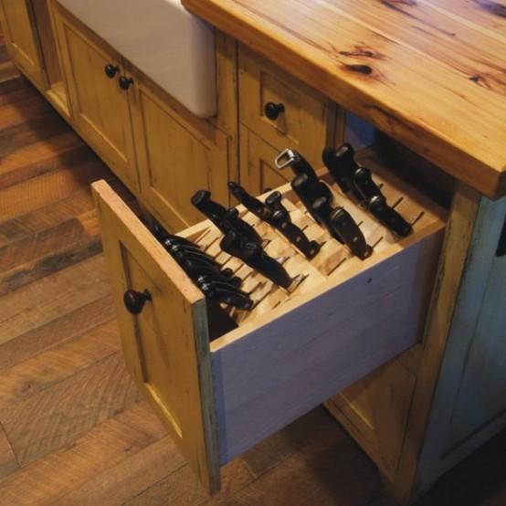 Smart Concealed Kitchen Storage Space