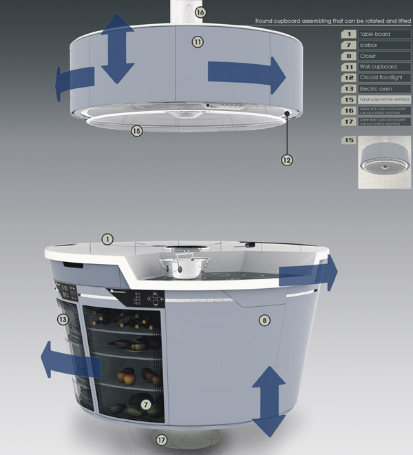 Smart kitchen cupboard from the future digsdigs - Archietechtural kitchen design space saving ...