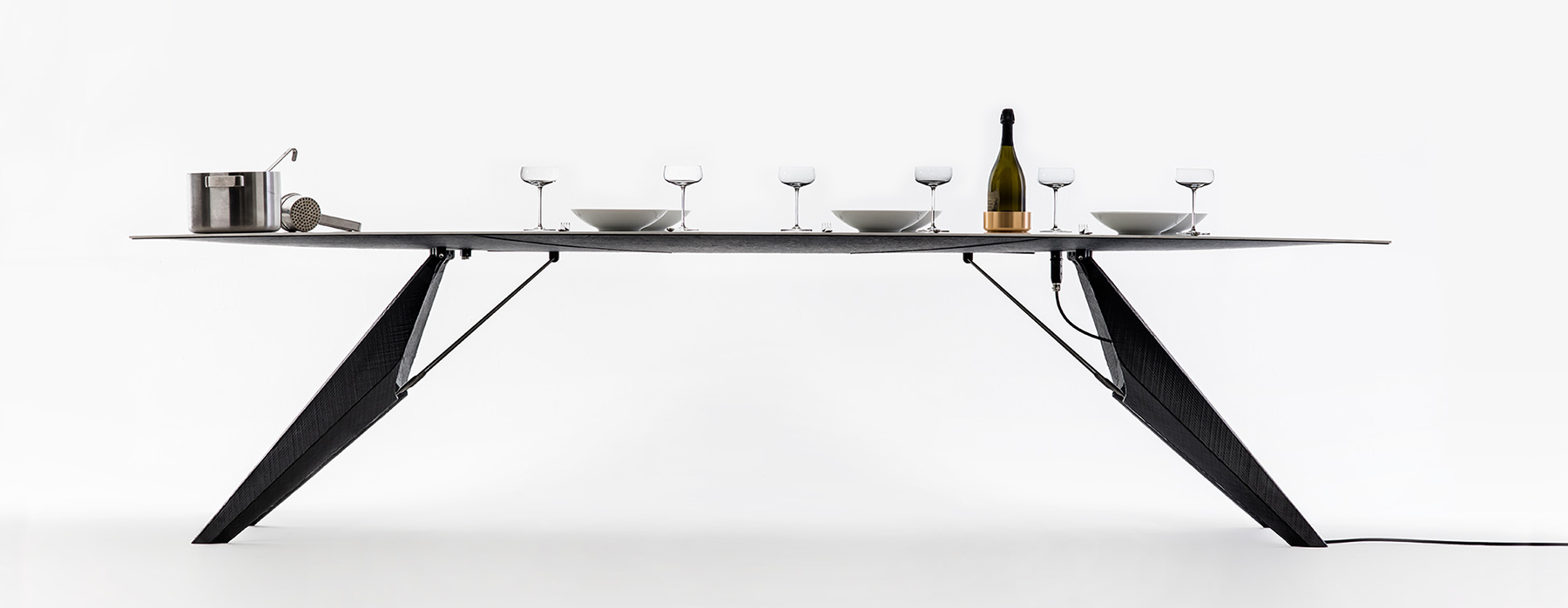 Picture Of smart slab dining table for heating and cooling the food  1