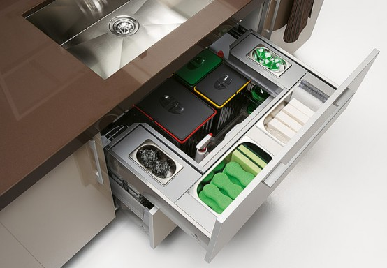 Smart Storage For Large Kitchen By Gabanes