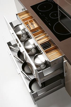Smart Storage For Large Kitchen By Gabanes