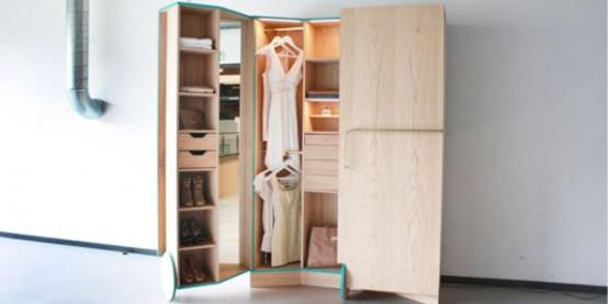 Smart Walk In Closet As A Mini Fitting Room Digsdigs