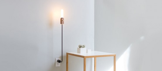 Smart Wall Lamp With Industrial Design: Wald Plug Lamp