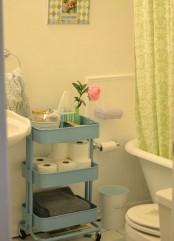 IKEA Raskog to store toilet supplies