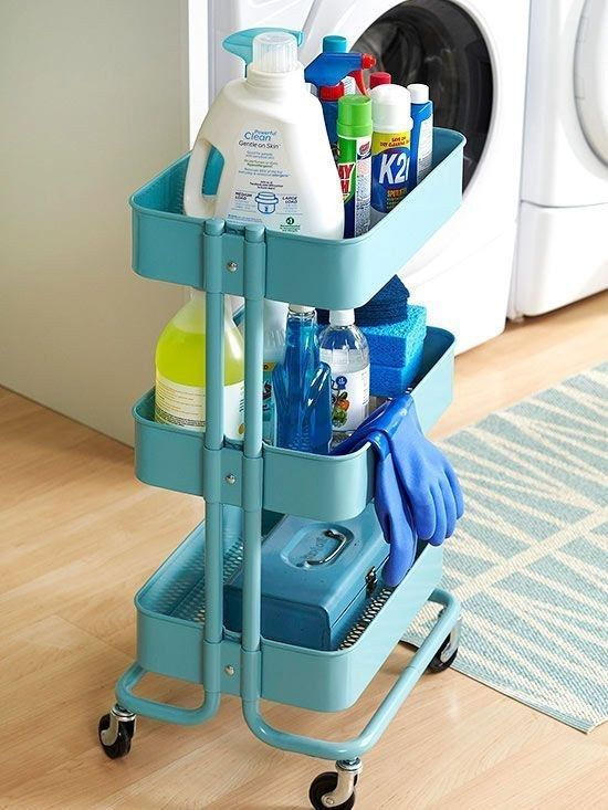 IKEA Raskog to store cleaning supplies