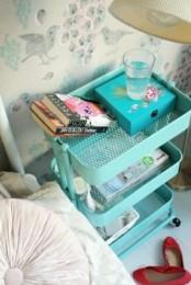 IKEA Raskog as a bedside table