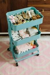IKEA Raskog to store kids cloth and shoes