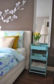 Simple bedside table – IKEA Raskog cart