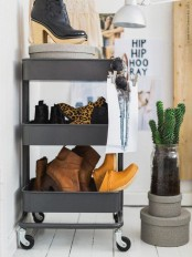 IKEA Raskog cart can store shoes