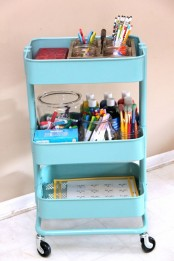 IKEA Raskog cart can store painting supplies