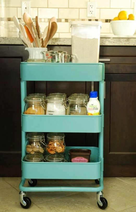 IKEA Raskog cart can store kitchen supplies