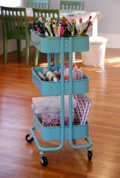 IKEA Raskog cart can store office and crafts supplies