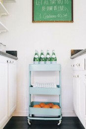 IKEA Raskog cart can be used to store stuff on a kitchen