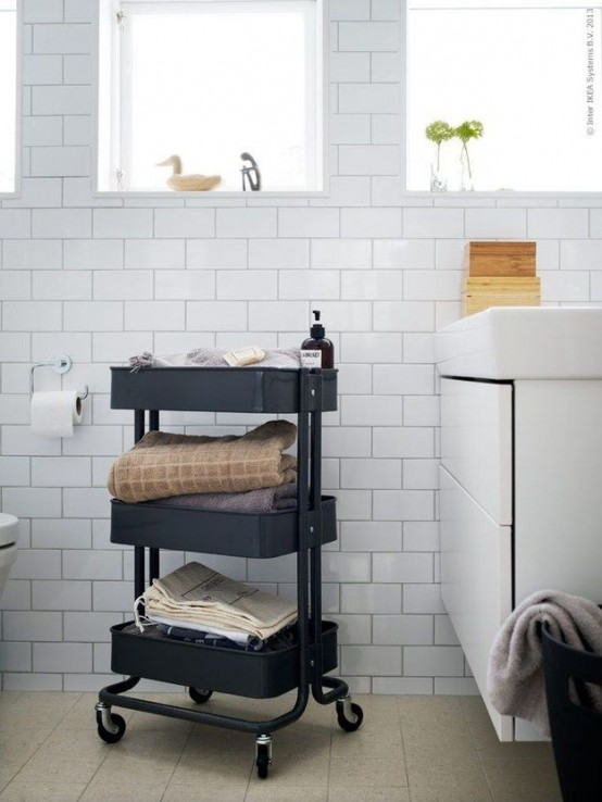 IKEA Raskog cart to store bath accessories