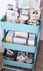 IKEA Raskog cart to store craft supplies