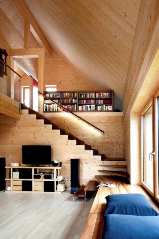 smart wooden house built with beech wood plugs - digsdigs
