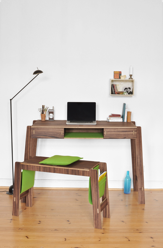 Smöly Desk And Bench With Smart Storage | DigsDigs