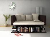 Sofa Levetating Above The Books