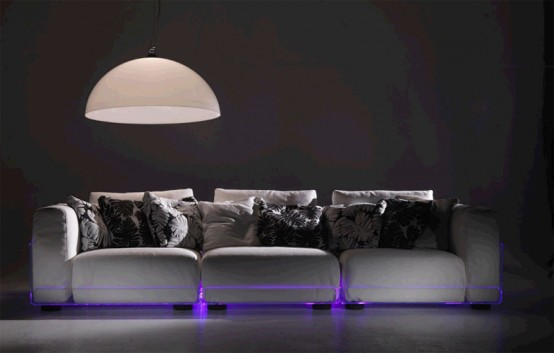 Versatile Sofa with Built-In Mood LED Lights – Asami Light Sofa by Colico