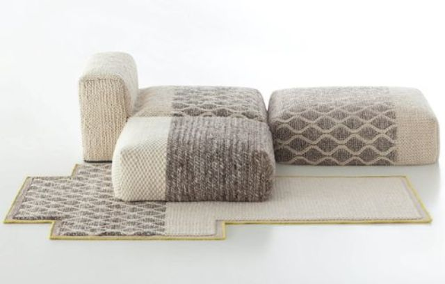 module seats with crochet covers will help you form a comfy conversation pit or a sitting space for your family