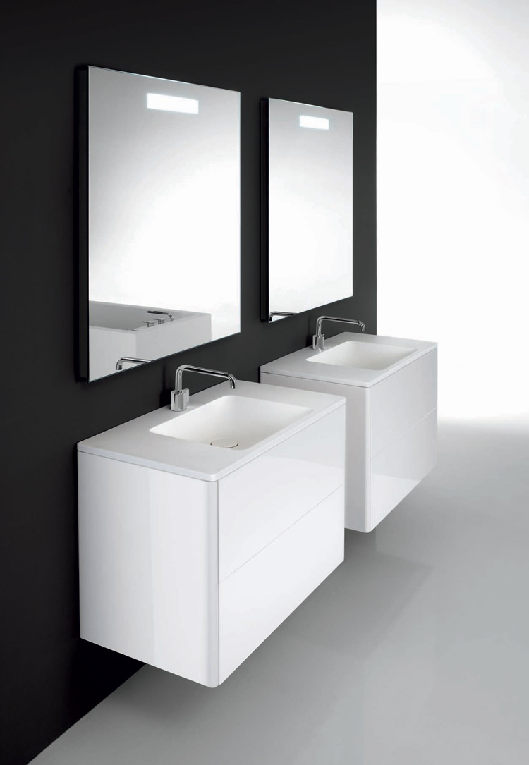 Minimalist functional bathroom furniture flow and soft from cosmic digsdigs - Small space bathroom vanities minimalist ...