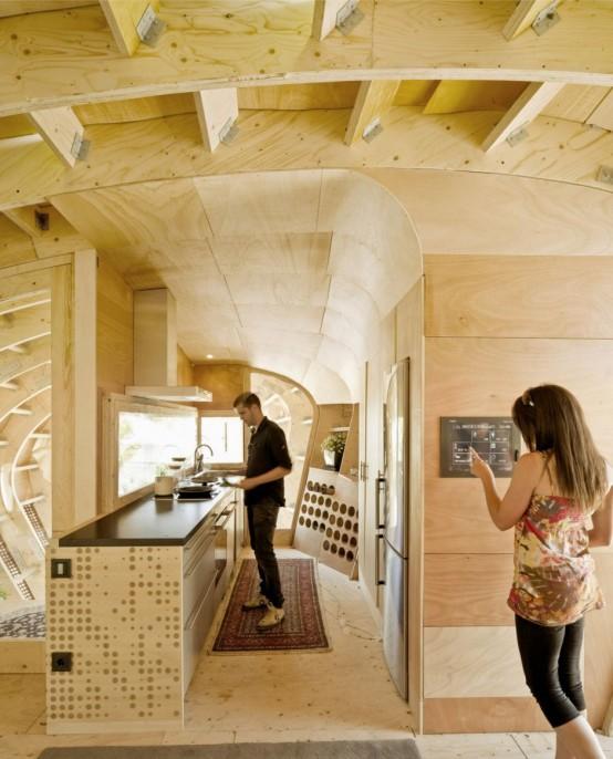 Solar Wooden House