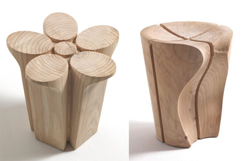 Solid Cedar Stools By Karim Rashid