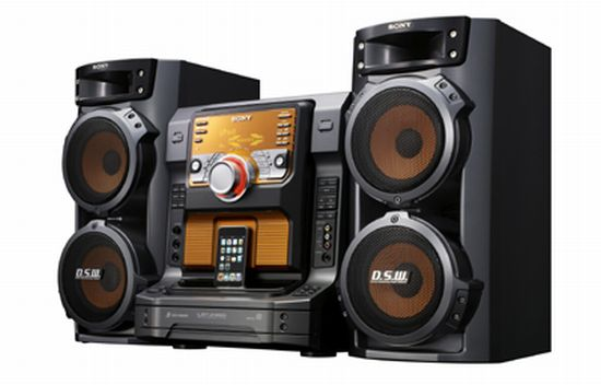 Sony ipod audio system. The Sony Muteki LBT-ZX66i is a 3-way Bass Reflex