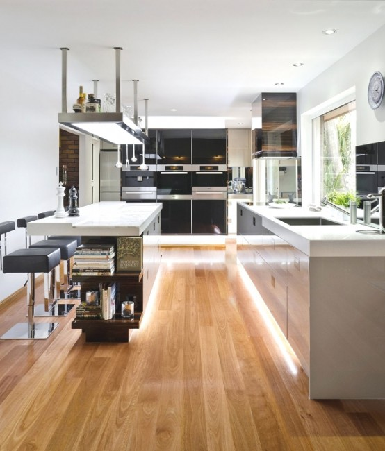 sophisticated minimalist kitchen design
