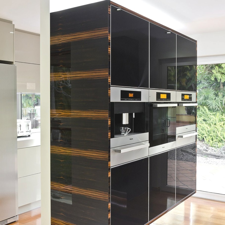 Sophisticated minimalist black and white kitchen design for Minimalist kitchen design