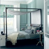Spa Hotel Style Bedroom In Turquoise Color