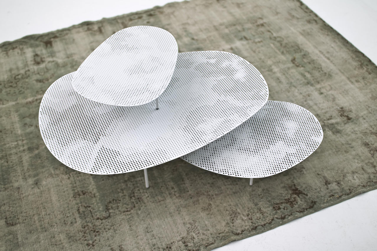 Space-Saving And Abstract Cloud Tables Set By Nendo