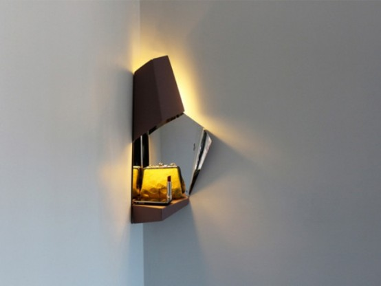 Space Saving Corner Light For Hallways Digsdigs