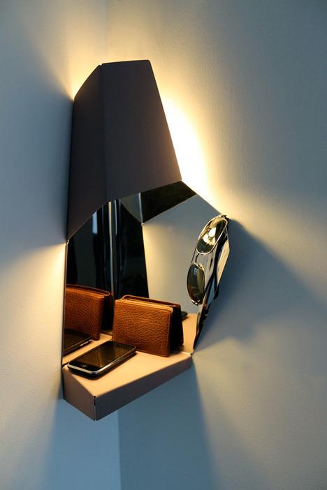 Space-Saving Corner Light For Hallways