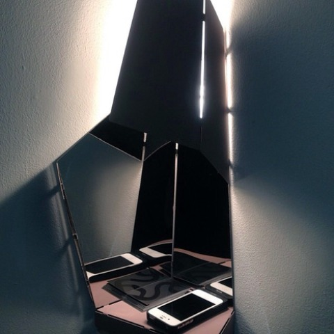 Space Saving Corner Light For Hallways