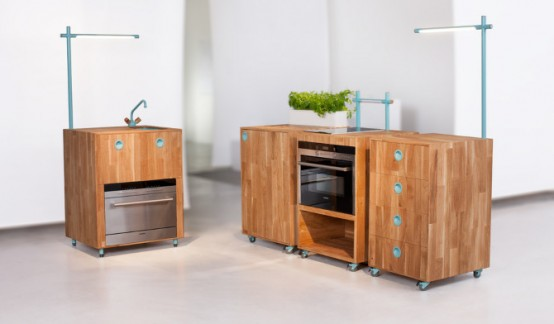 Space Saving and Eco-Friendly Kitchen of Future