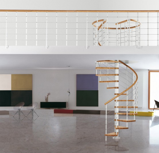 Space Saving Staircase Designs: 10 The Most Cool Spiral Staircase Designs
