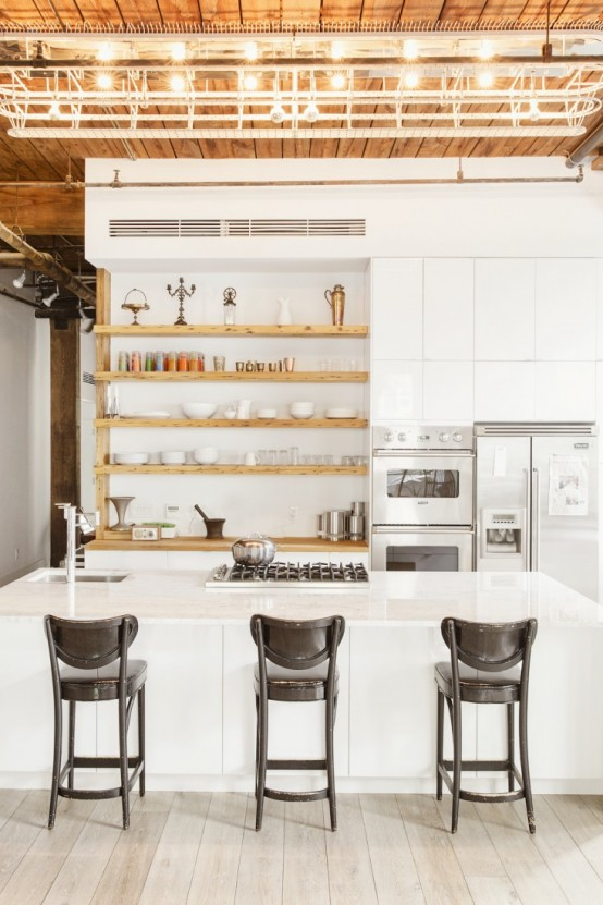Spacious Made-For-TV Kitchen Design With A Cookbook Writing Office