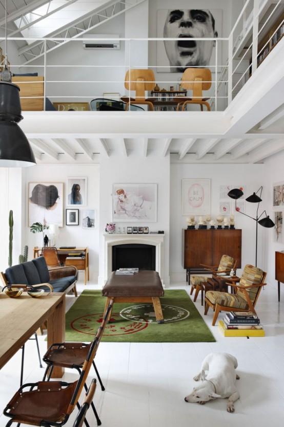 Spanish Dream Loft Interior Design That Combines Modernism with History