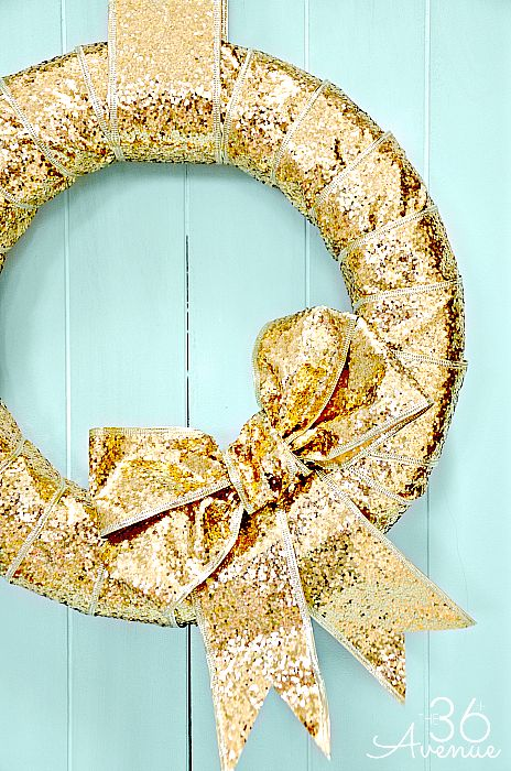 sparkling gold christmas decor ideas - Teal And Gold Christmas Decorations