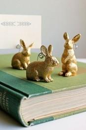 Sparkling Gold Easter Decor Ideas