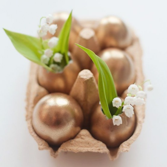Sparkling Gold Easter Decor Ideas