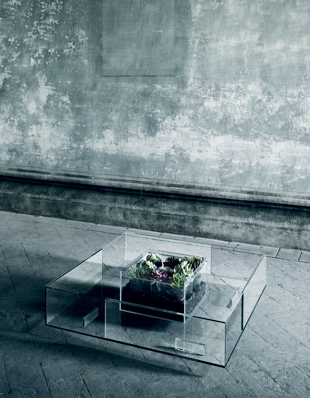 Spectacular Seasons All-Glass Coffee Table