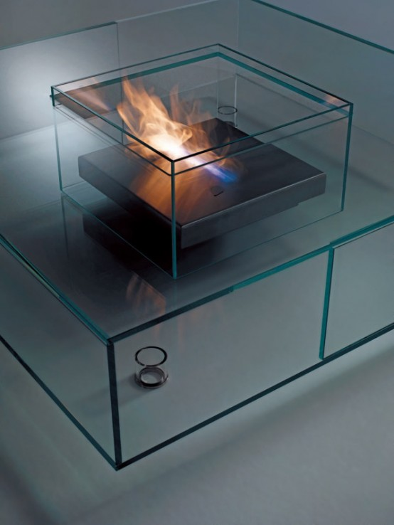 Spectacular All Glass Seasons Coffee Table