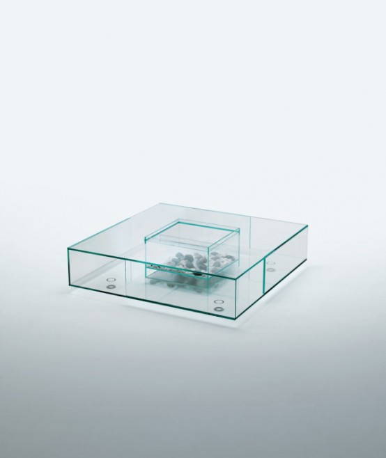 Cool Spectacular All Glass Seasons Coffee Table